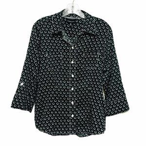 Foxcroft Wrinkle Free Geometric Button Down Shirt